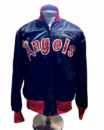 Nolan Ryan's Game Worn / Used & Autographed Circa 1977-79 California Angels Jacket!