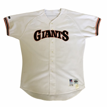 1993 Dave Burba #34 Game Worn San Francisco Giants Home Jersey!