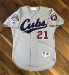 Sammy Sosa's 1995 Chicago Cubs Game Worn & Autographed All-Star Game Jersey with Letter of Authenticity!