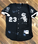 Robin Ventura's 1995 Chicago White Sox Game-Worn & 2X Autographed Black Alternate Jersey!
