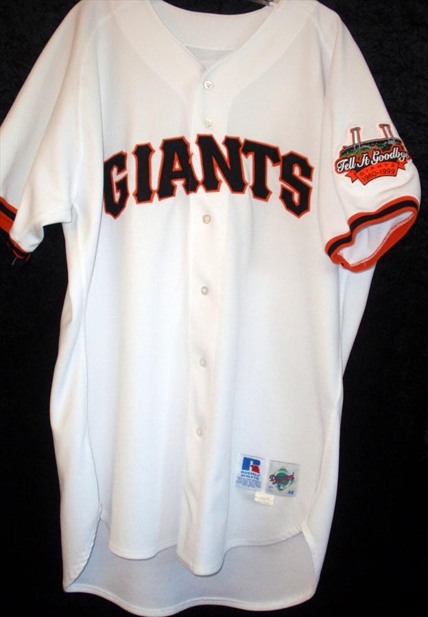 release date 9452c 5b2ad 1999 Julian Tavarez San Francisco Giants Game Worn Russel Jersey