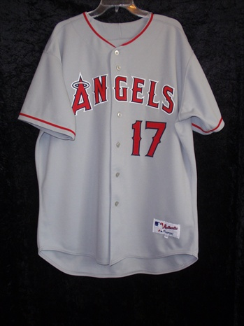 Darin Erstad's Los Angeles Angels Game Worn Road Jersey W/ All Propper Tagging