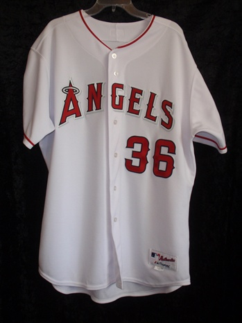 Jared Weaver's 2007 Anaheim Angels Game-Worn Home Jersey #36