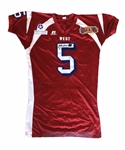 "Marty Johnson's 2005 (Utah) ""Hula Bowl"" Game-Worn & Autographed Jersey !"