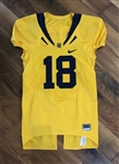Mike Mohamad's 2009 Cal Bears Game-Worn NCAA Football Jersey #18 with Tons of use!