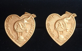 Circa 1960's Kansas City A's Cuff Links