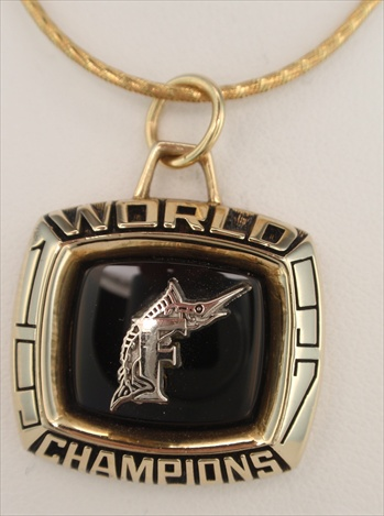 1997 Florida Marlins World Series Champions 10K Gold Limited Edition Pendant