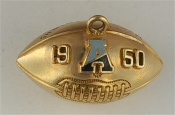1949-50 Army Black Knights Football 10K Gold Championship Pendant!
