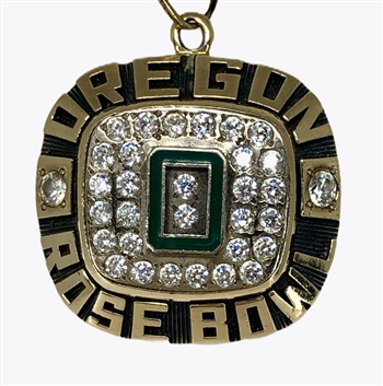 "1995 Oregon Ducks ""Rose Bowl"" Championship NCAA 10K Gold  Football Pendant!"