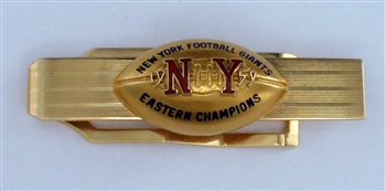1959 New York Giants N.F.L. Eastern Division Champions 14K Gold Football Tie-Bar