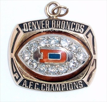 1977 Denver Broncos Super Bowl A.F.C. Champions 10K Gold & Diamond Pendant!