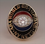 "1974 New York Nets ABA ""World Champions"" 10K Gold Ring"