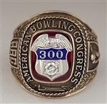 "1960's ABC 300 ""Perfect Game"" 10K Gold Bowling Ring!"