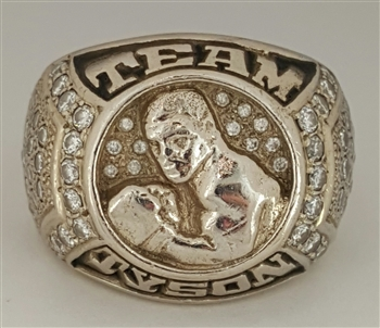 1990's Team Mike Tyson Heavyweight Championship 14K Gold Ring with All Real Diamonds..