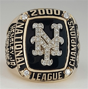 2000 New York Mets National League Champions 10K Yellow Gold Ring!