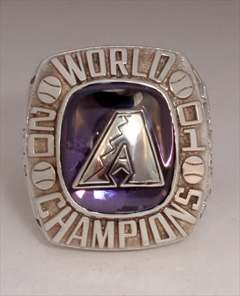 "2001 Arizona Diamondbacks World Series Champions Sterling Silver ""C-Version"" Ring!"