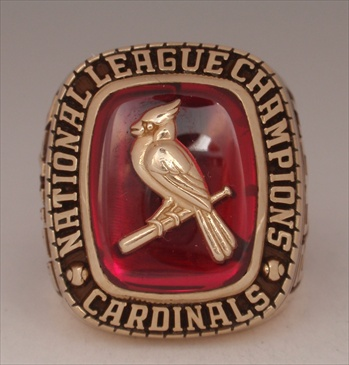 "2004 St. Louis Cardinals World Series ""N.L."" Champions 10K Gold Ring"