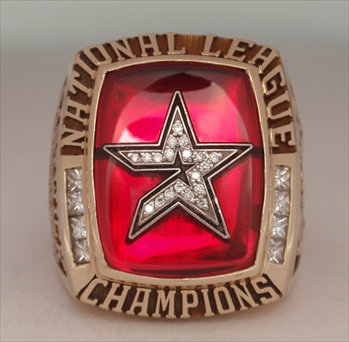 "2005 Houston Astros World Series ""National League"" Champions 10K Gold & Diamond *Real* Ring!"