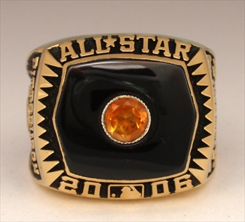"2006 MLB ""All-Star Game"" 14K Gold-Plated Ring"