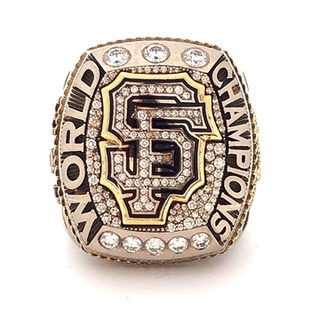 Hector Sanchez's #29 2014 San Francisco Giants World Series Champions 14K Gold & Diamond Ring!