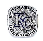 2014 Kansas City Royals American League Champions 10K Gold & Diamond Ring!