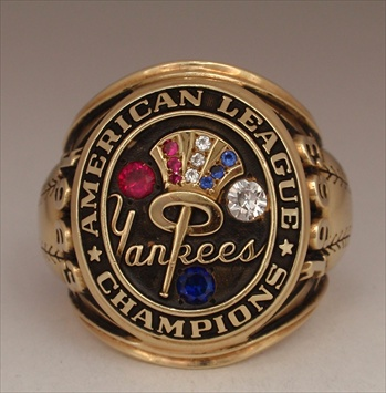 "1963 New York Yankees World Series ""American League"" Champions 14K Gold *Real* Ring!"