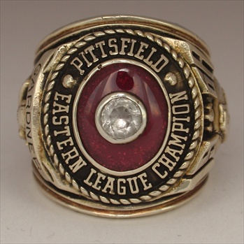 "1968 Pittsfield Red Sox ""Eastern League"" Champions 10K Gold Ring"