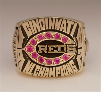 "1972 Cincinnati Reds World Series""National League"" Champions 10K Gold Ring"