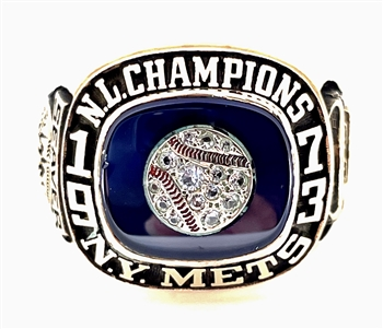 "1973 New York Mets World Series  ""N.L."" Champions 10K Gold Ring"