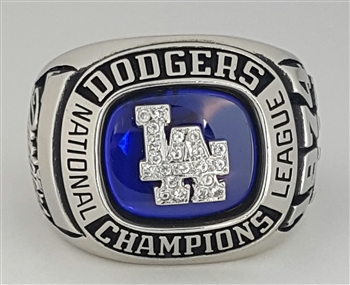 "1974 Los Angeles Dodgers World Series ""National League"" Champions10K White Gold Ring"