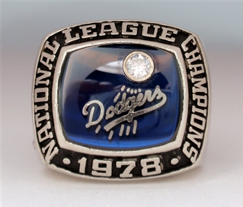 "1978 Los Angeles Dodgers World Series ""National League"" Champions 14K White Gold & Diamond Ring!"