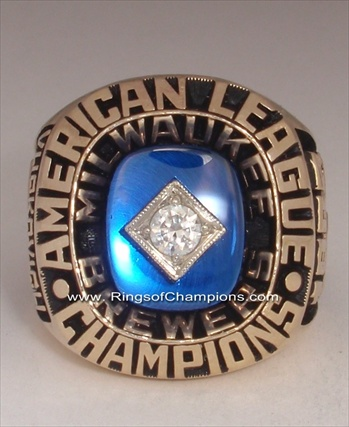 "1982 Milwaukee Brewers World Series ""American League"" Champions 10K Gold Ring"