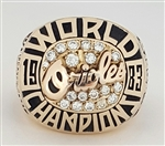 1983 Baltimore Orioles World Series Champions Ring with all Real Diamonds!