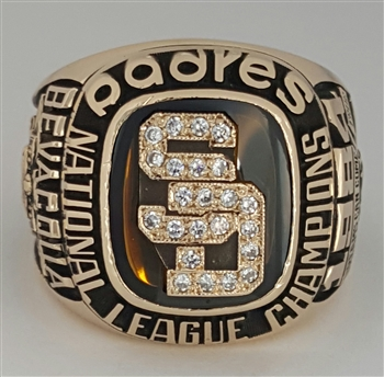 "1984 San Diego Padres World Series ""National League"" Champions 10K Gold Ring"