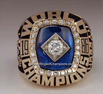 "1986 New York Mets ""World Series"" Champions 10K Gold Ring with all Real Diamonds"