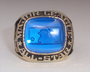 1987 MLB All-Star Game Ring With The Original Wood Presentation Box