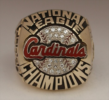 "1987 St. Louis Cardinals World Series ""National League"" Champions Proto-Type 10K Gold Ring"