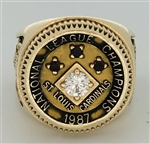 1987 St. Louis Cardinals National League Champions 10K Gold and Diamond Ring!