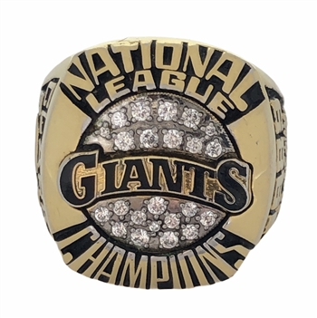 "1989 San Francisco Giants World Series ""National League"" Champions Ring."