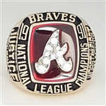 1991 Atlanta Braves National League Champions 10K Yellow Gold Ring!