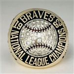 "1992 Atlanta Braves World Series ""National League"" Champions 10K Gold Ring"