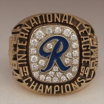 "1994 Richmond Braves Baseball ""International League"" Champions 10K Gold Ring!"