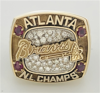 "1996 Atlanta Braves World Series ""National League"" Champions 10K Gold  Ring!"