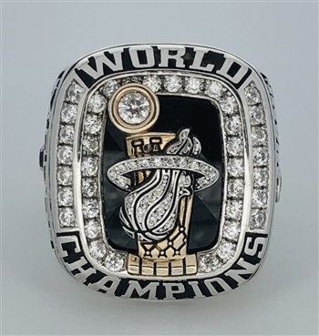 "2012 Miami Heat NBA Basketball ""World Champions"" 10K White Gold Ring!"
