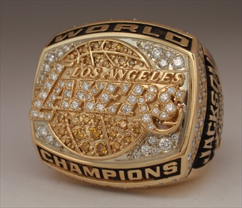 2000 L.A. Lakers NBA World Champions 14K Gold Proto-Type Ring!