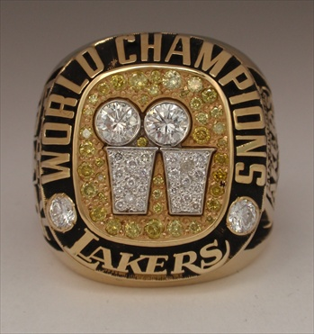 "2001 Los Angeles Lakers NBA ""World Champions"" 14K Gold & Diamond *Real* Ring! *Shaquille O'Neal*"