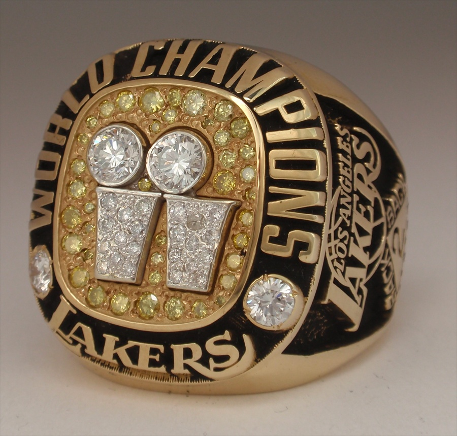2001 Los Angeles Lakers Nba World Champions 14k Gold Diamond Real Ring Shaquille O Neal