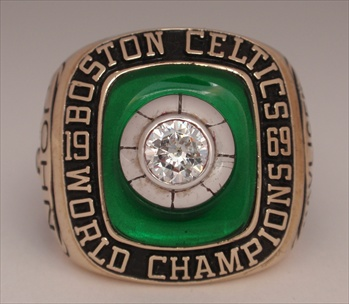 Very Rare 1969 Boston Celtics N.B.A. World Champions 10K Gold Ring!