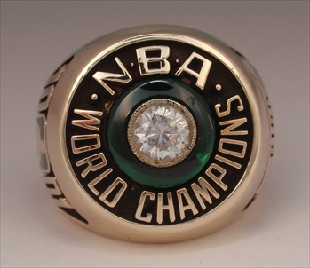 1981 Boston Celtics NBA World Champions 10K Gold Ring!