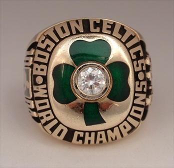 1984 Boston Celtics N.B.A. World Champions 10K Gold Ring!